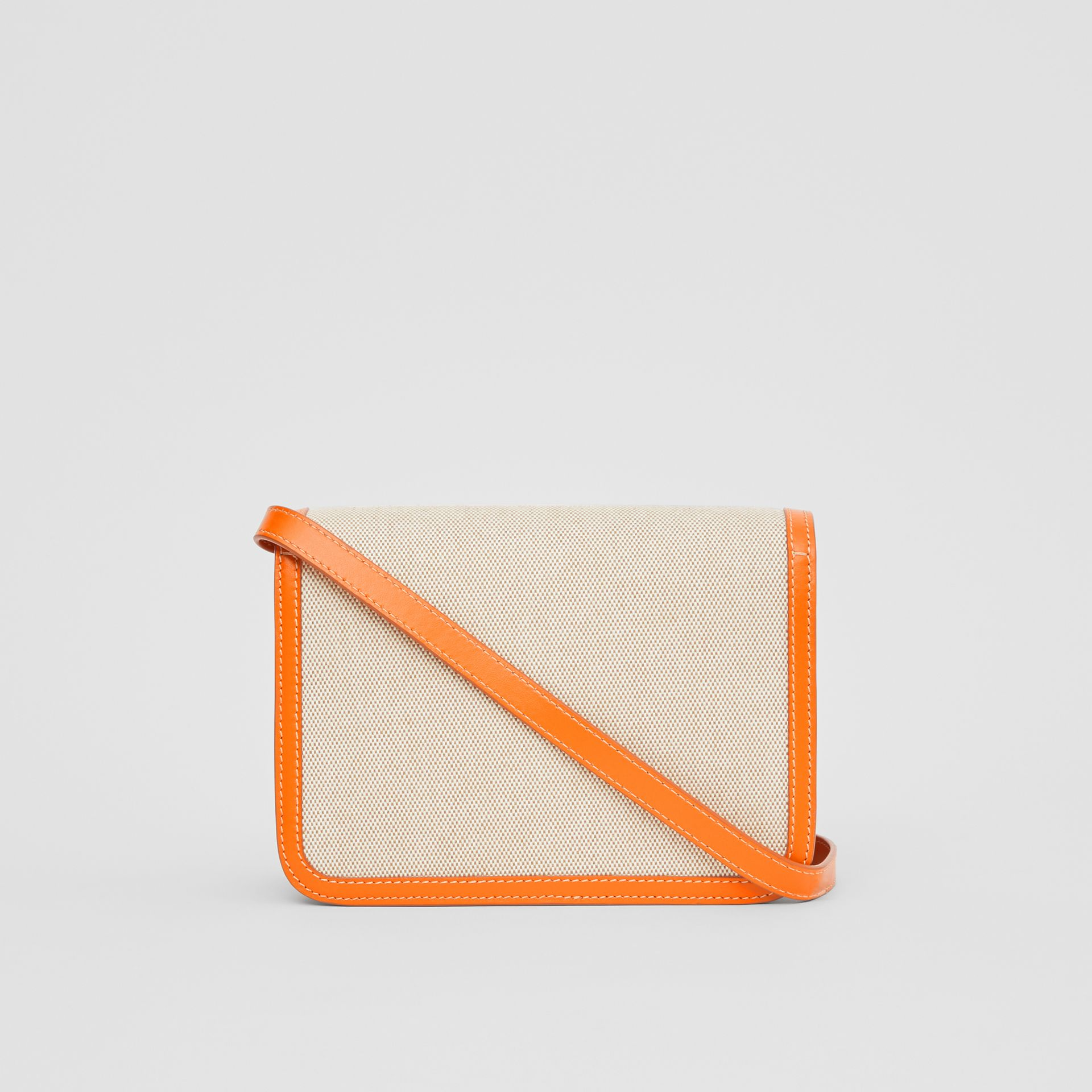 Small Two-tone Canvas and Leather TB Bag in Orange - Women | Burberry - gallery image 5