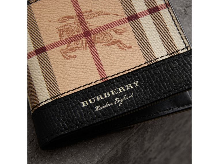 Haymarket Check International Bifold Coin Wallet in Black - Men | Burberry - cell image 1