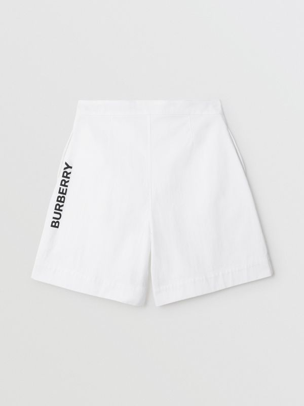 Elegante Shorts aus Baumwolle mit Burberry-Logo (Optic-weiss) | Burberry - cell image 3