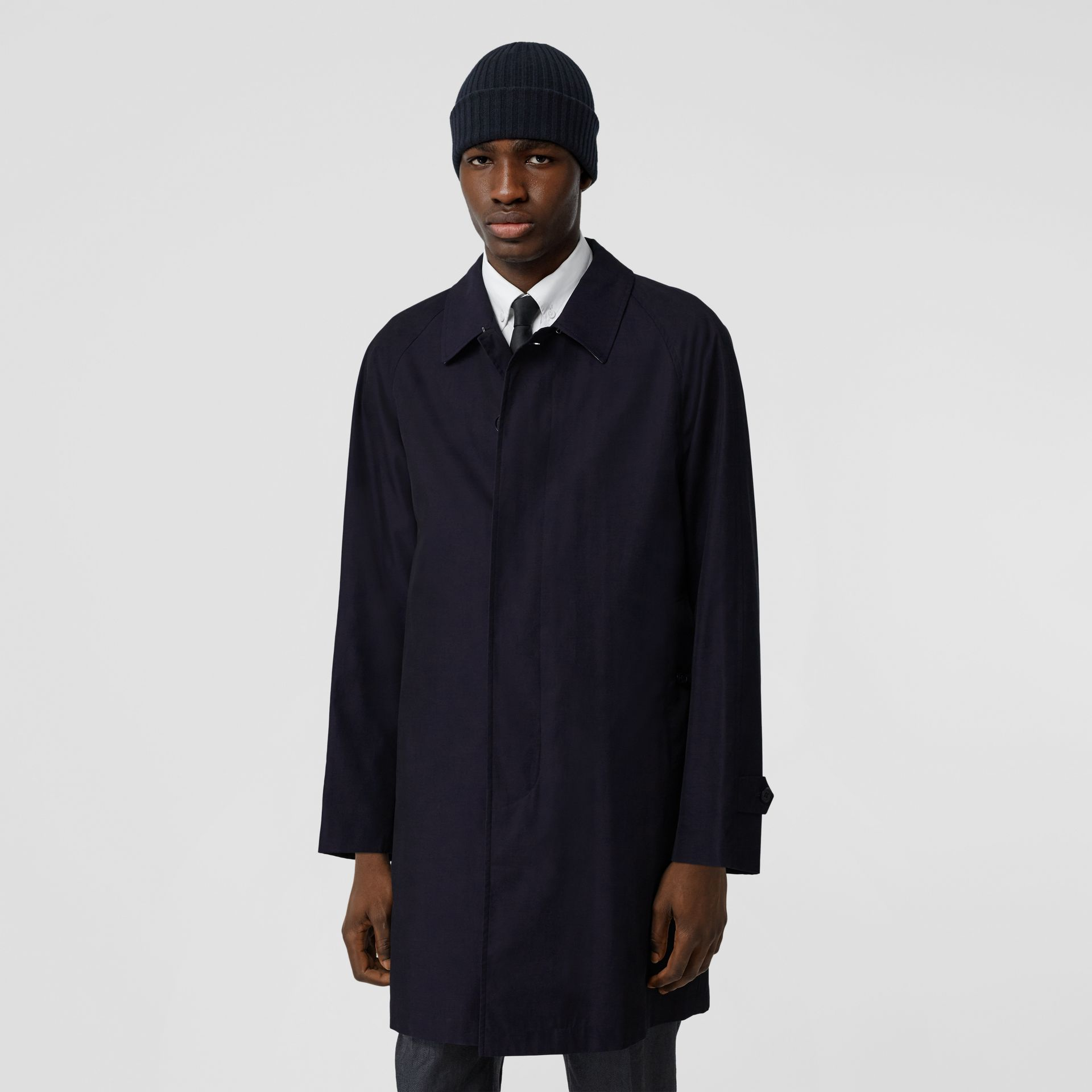 The Camden Car Coat in Blue Carbon - Men | Burberry Canada - gallery image 6