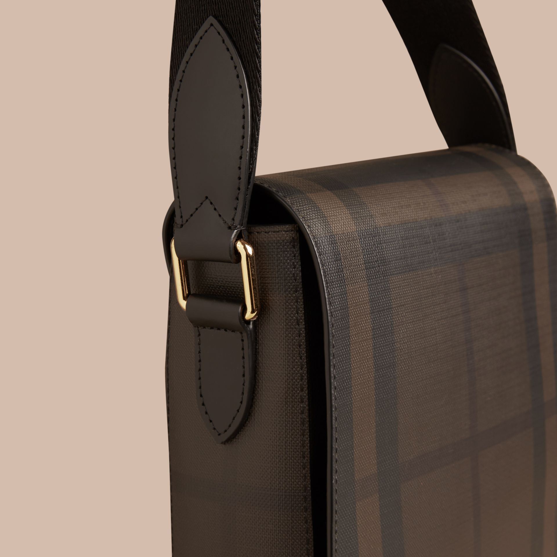 London Check Crossbody Bag Chocolate/black - gallery image 6