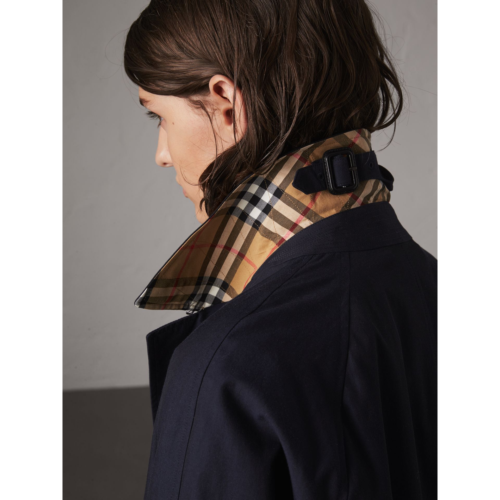 The Camden – Long Car Coat in Blue Carbon - Women | Burberry - gallery image 1
