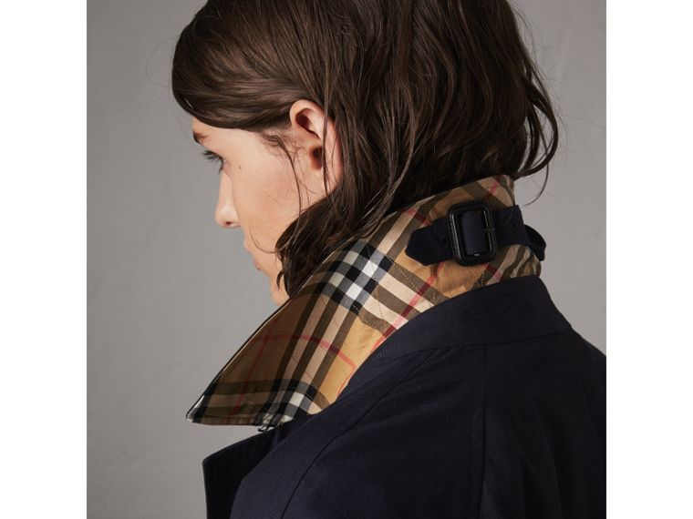 The Camden – Mid-length Car Coat in Blue Carbon - Women | Burberry - cell image 1