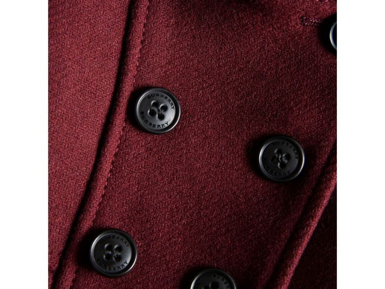 Wool Cashmere Blend Twill Tailored Coat in Garnet | Burberry United Kingdom - cell image 1
