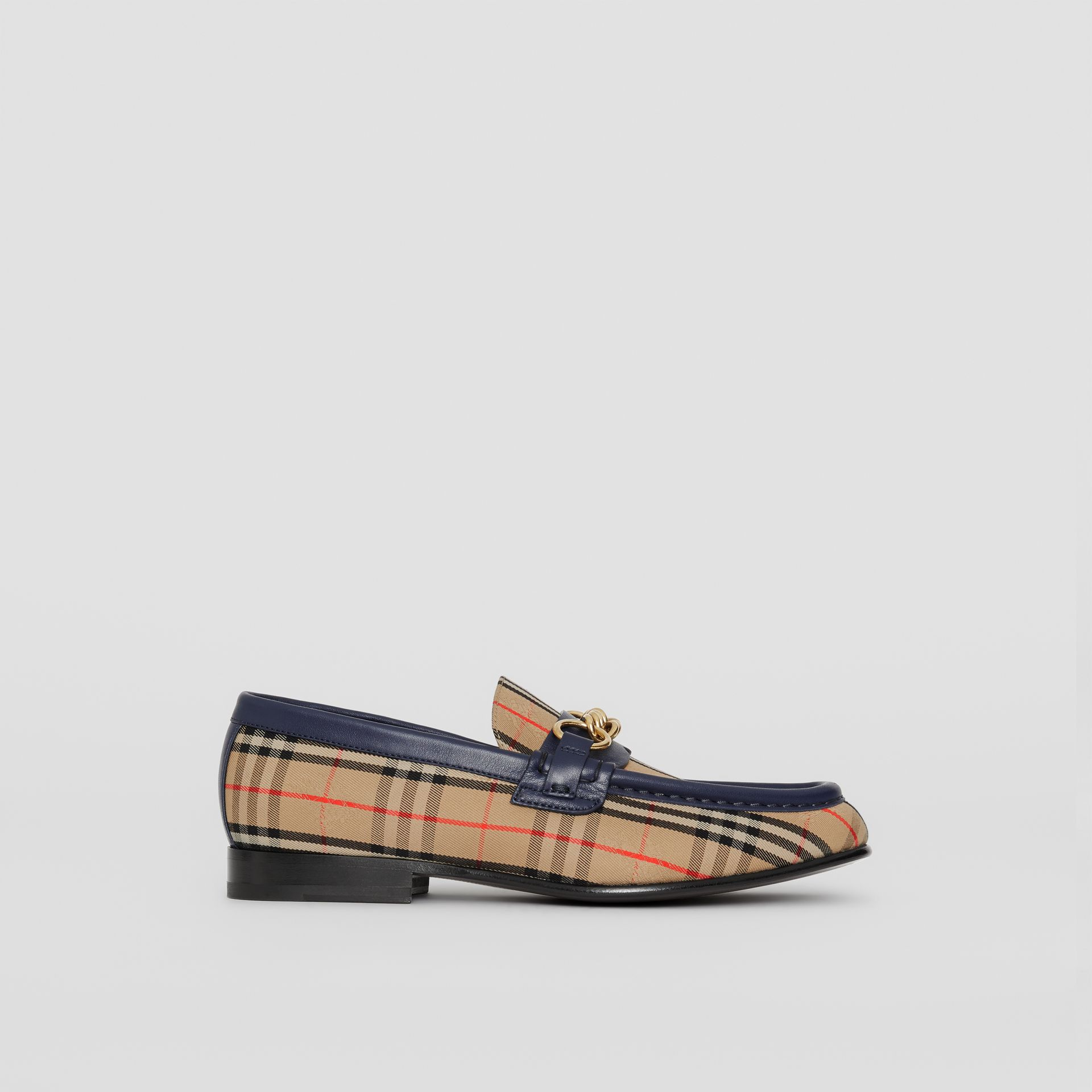 The 1983 Check Link Loafer in Ink Blue - Women | Burberry - gallery image 5