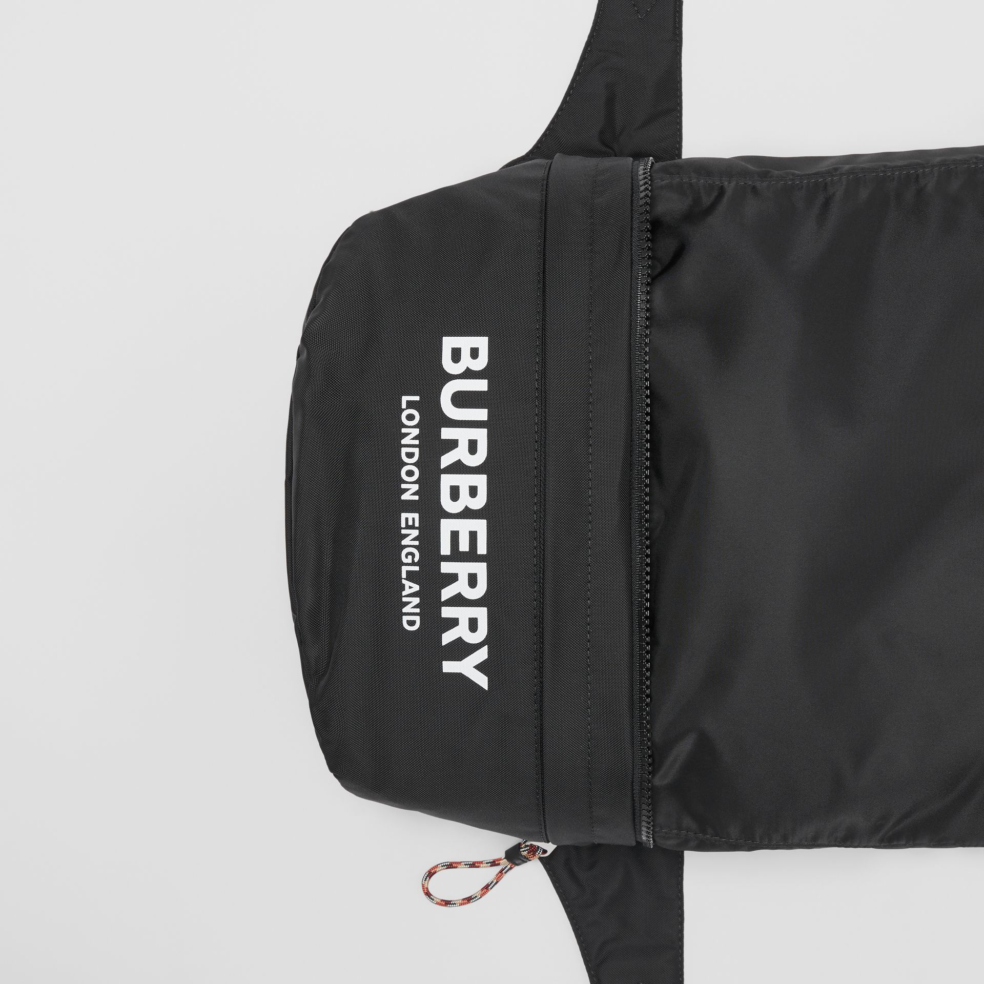 Sac banane convertible avec logo (Noir) | Burberry - photo de la galerie 1