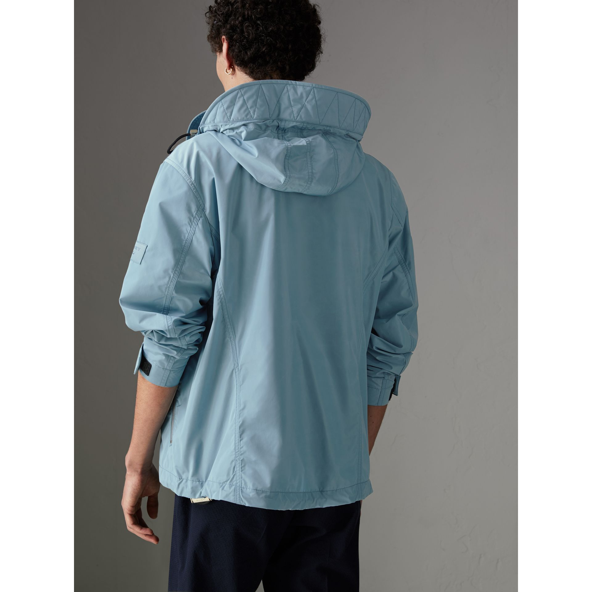 Packaway Hood Showerproof Jacket in Slate Blue - Men | Burberry Singapore - gallery image 2