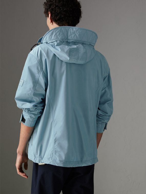 Packaway Hood Showerproof Jacket in Slate Blue - Men | Burberry Singapore - cell image 2