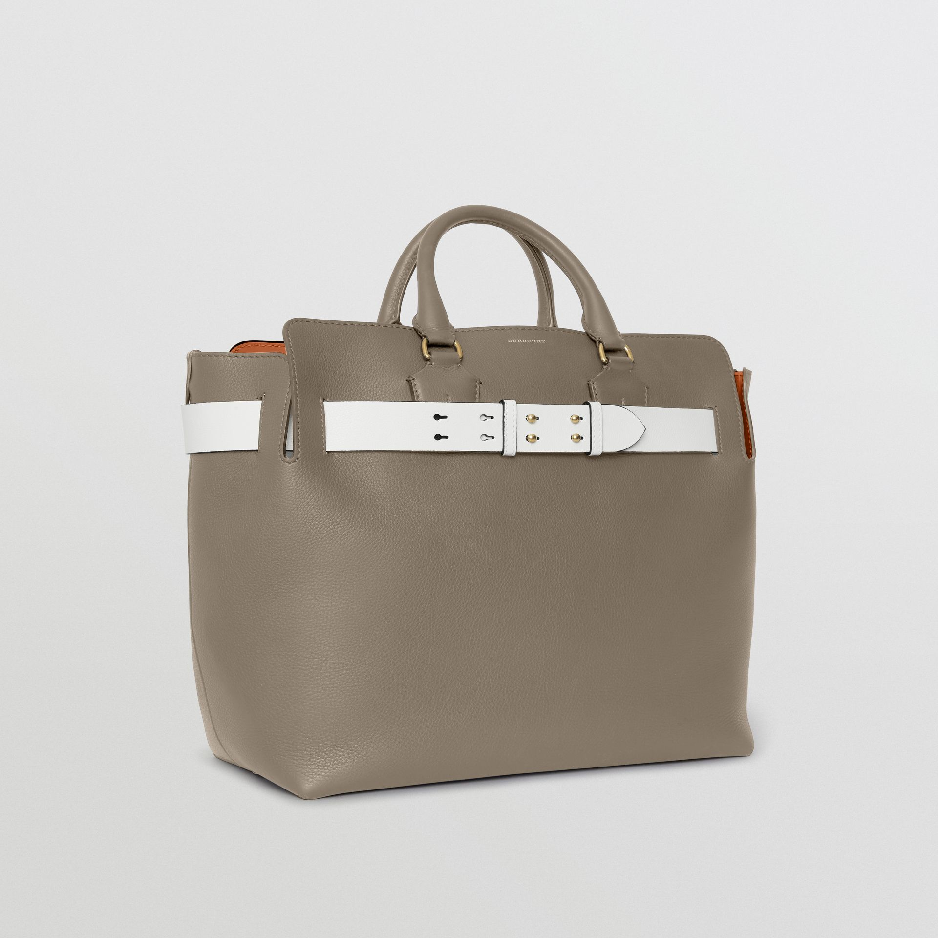 The Large Leather Belt Bag in Mineral Grey | Burberry - gallery image 7