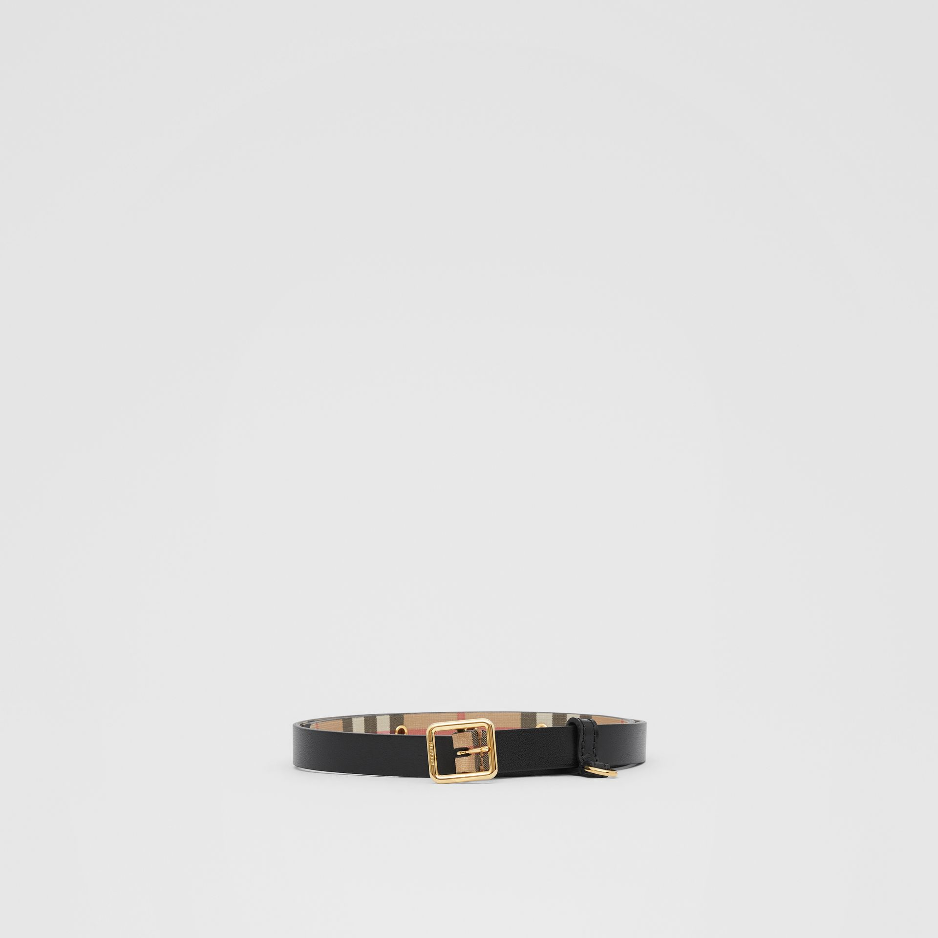D-ring Detail Vintage Check E-canvas Belt in Black - Children | Burberry United Kingdom - gallery image 2