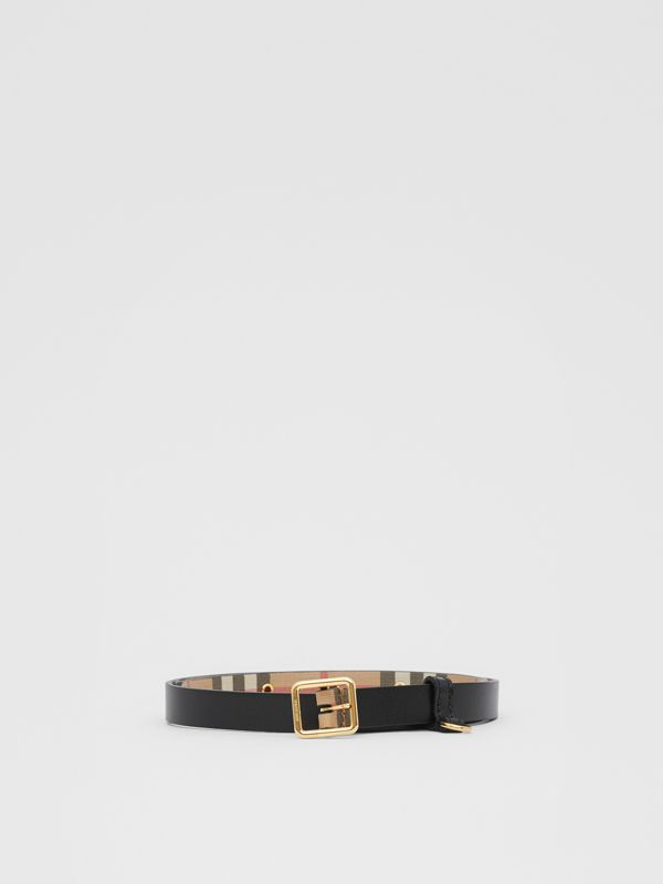 D-ring Detail Vintage Check E-canvas Belt in Black - Children | Burberry - cell image 2