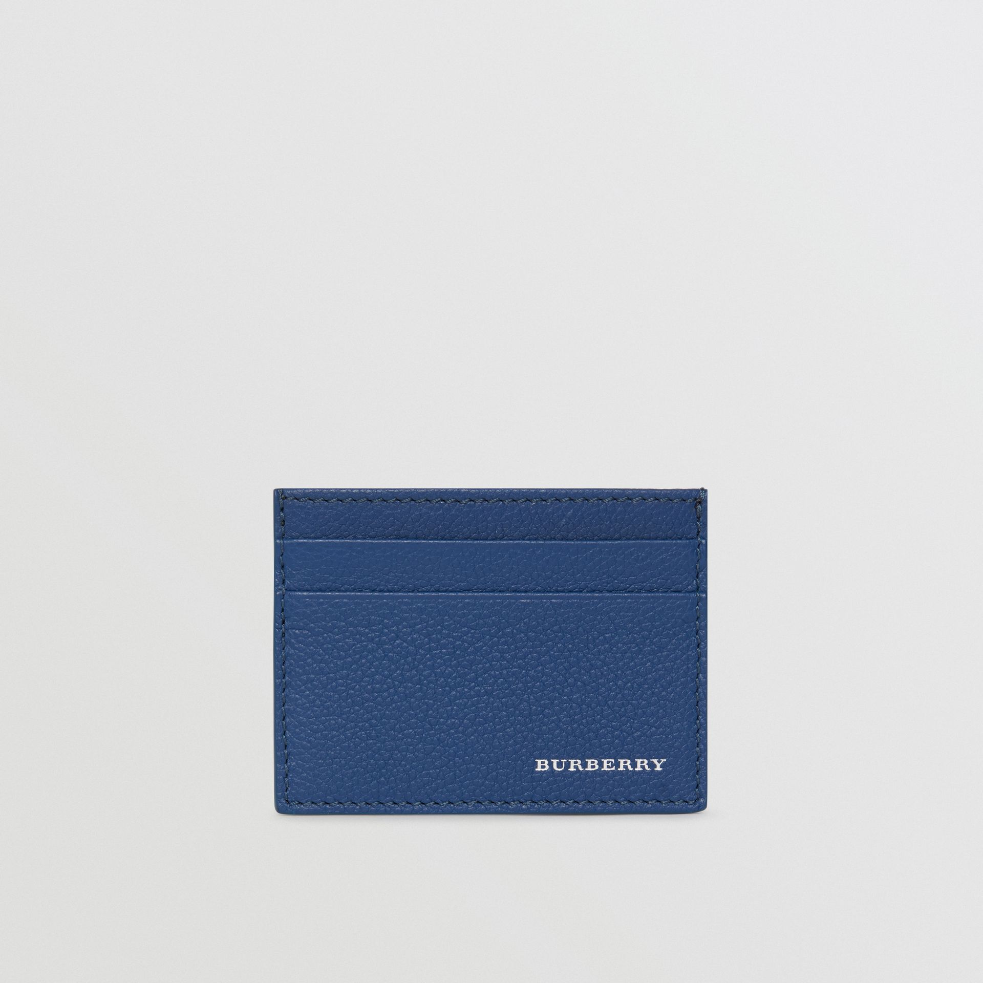 Grainy Leather Card Case in Bright Ultramarine | Burberry - gallery image 5