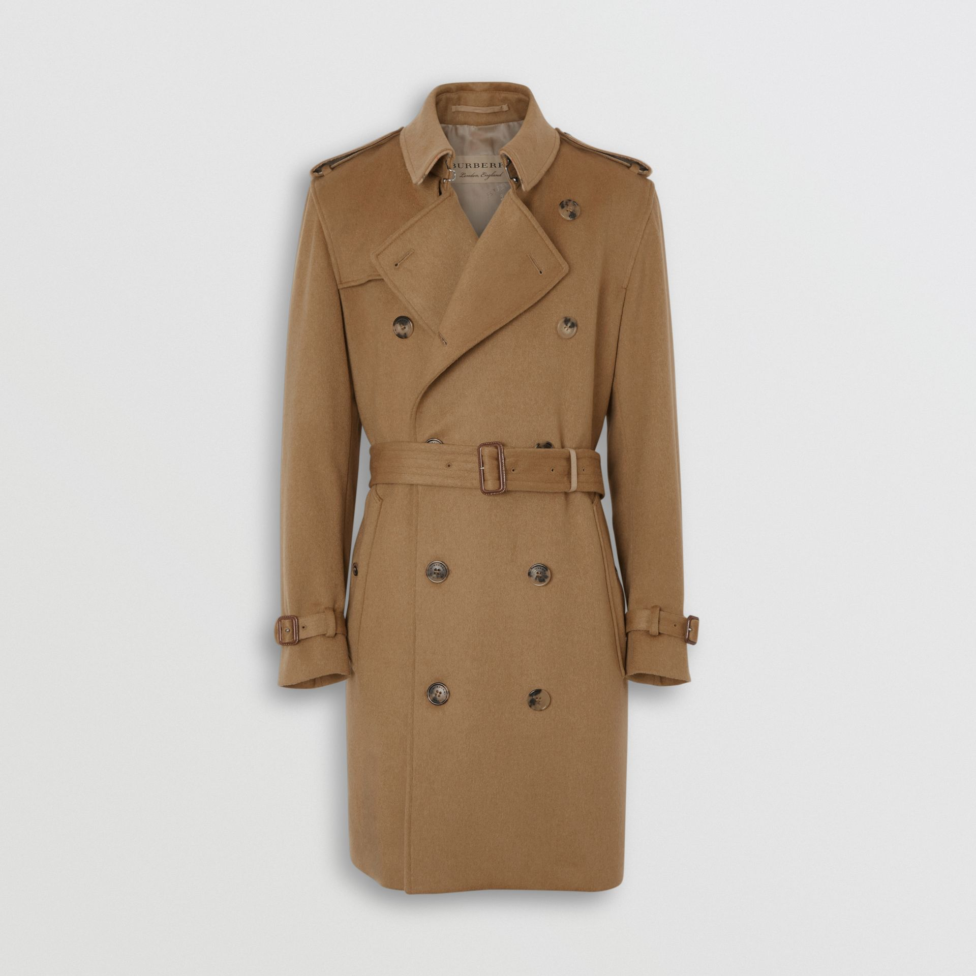Cashmere Trench Coat in Camel - Men | Burberry United Kingdom - gallery image 3