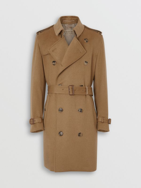 Cashmere Trench Coat in Camel - Men | Burberry United Kingdom - cell image 3