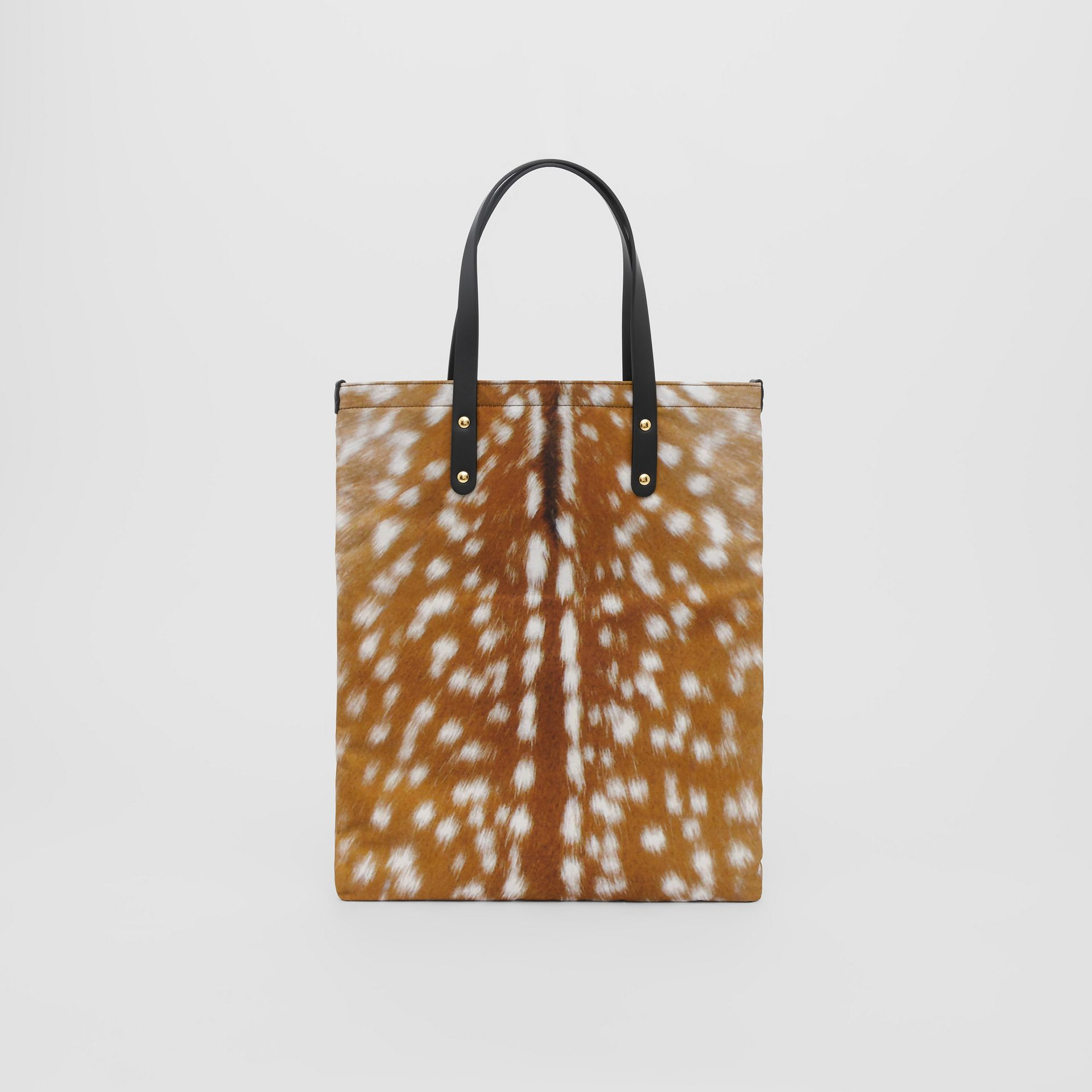 Deer Print Nylon Tote Bag in Black | Burberry - gallery image 4