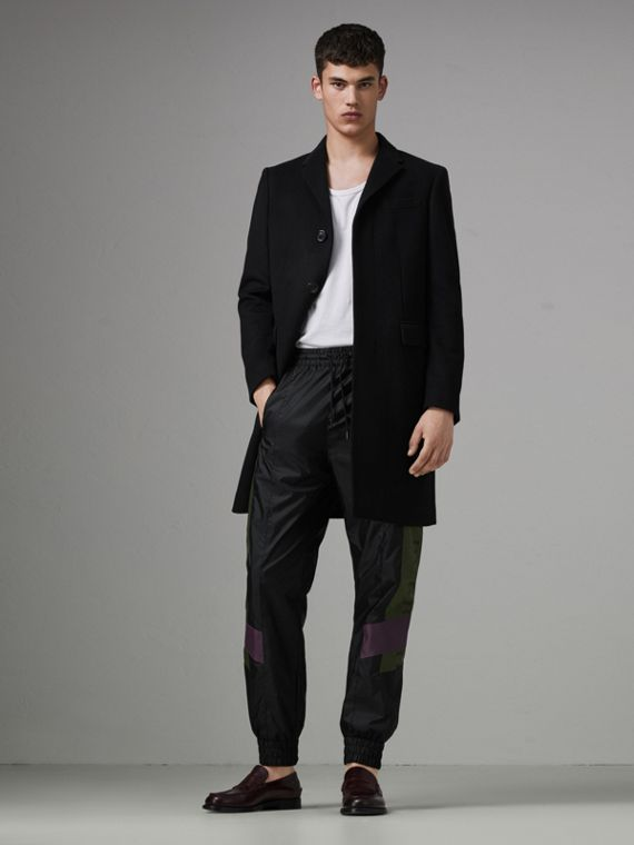Logo Panel Shell Suit Pants in Black