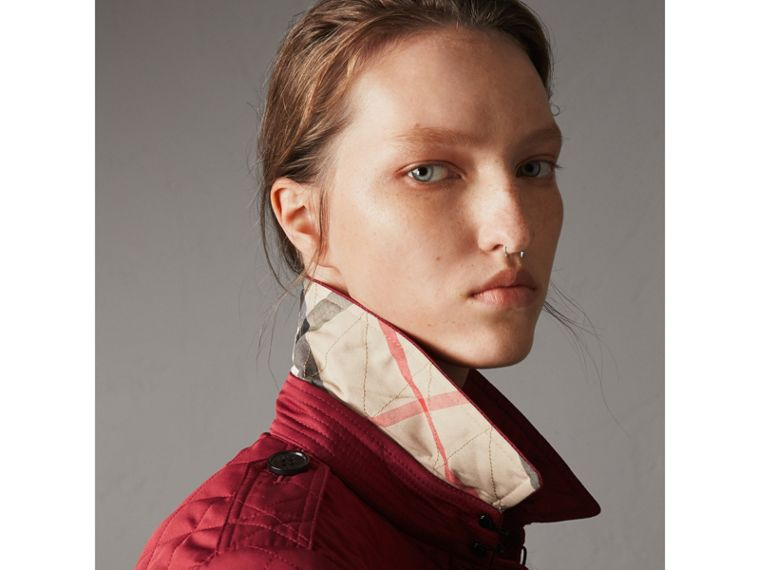 Diamond Quilted Jacket in Parade Red - Women | Burberry United States - cell image 1
