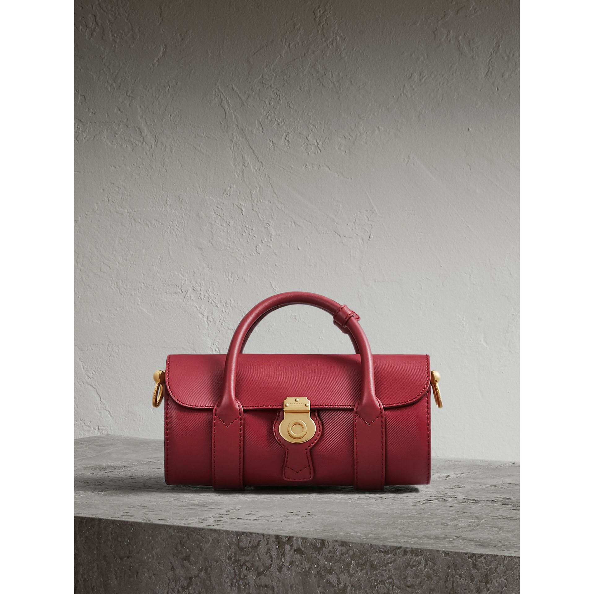 The Small DK88 Barrel Bag in Antique Red - Women | Burberry - gallery image 0
