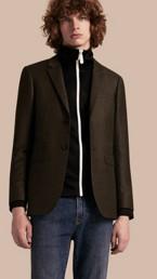 Slim Fit Prince of Wales Check Wool Blend Jacket