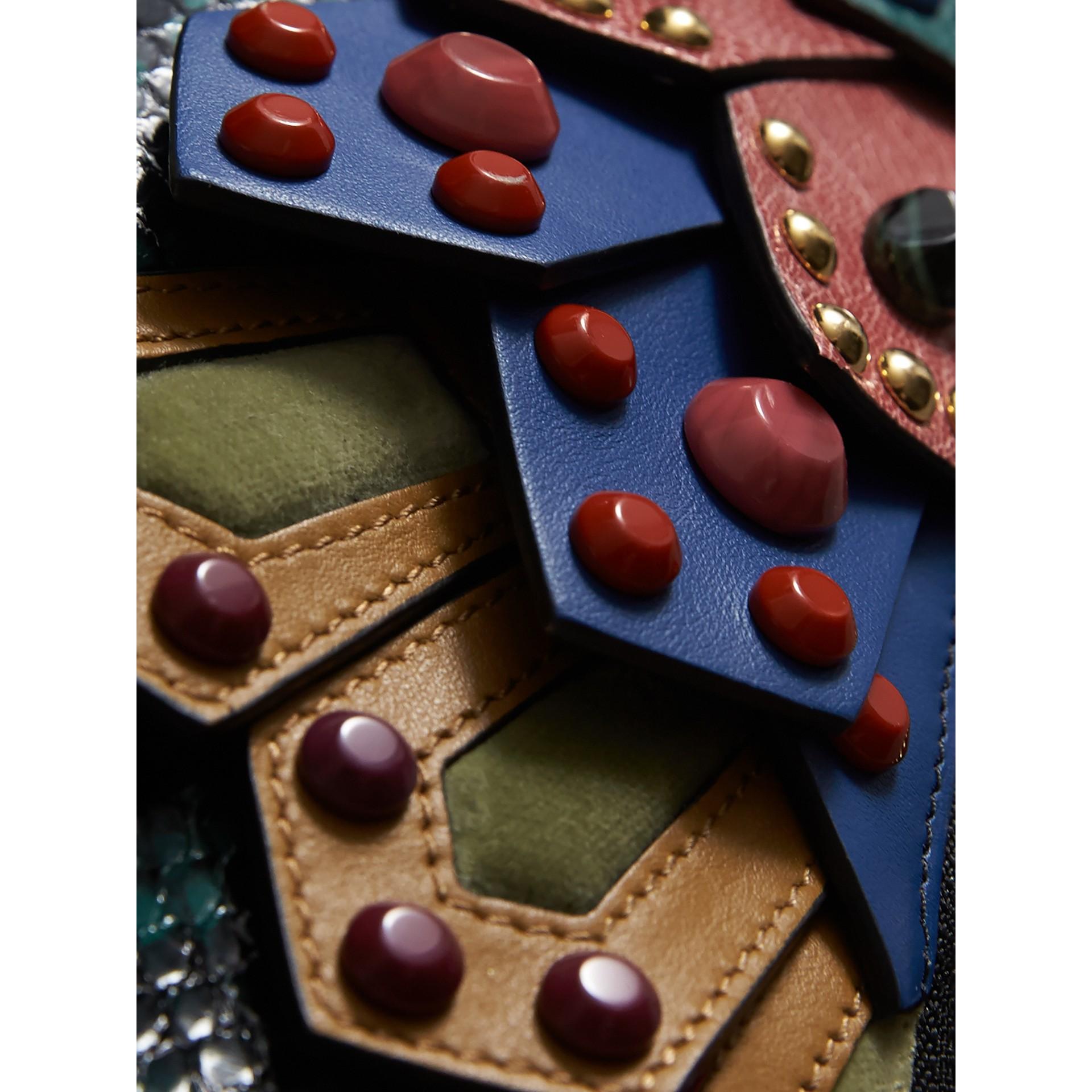 The Falcon – Crossbody-Tasche aus Natternleder und Leder (Blaugrün) - Damen | Burberry - Galerie-Bild 2