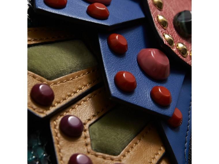 The Falcon – Crossbody-Tasche aus Natternleder und Leder (Blaugrün) - Damen | Burberry - cell image 1