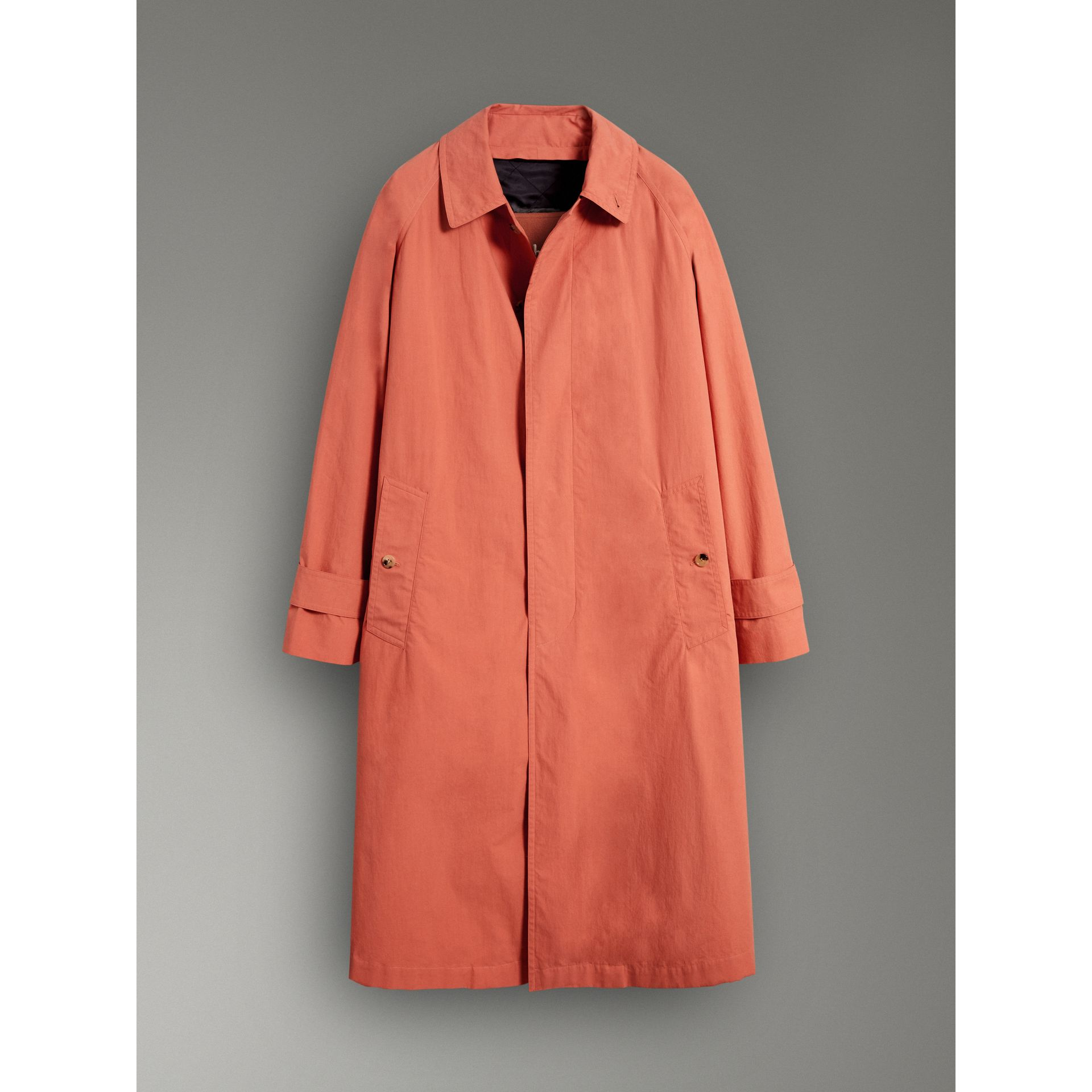 Reissued Cotton Car Coat with Detachable Warmer in Coral - Women | Burberry Canada - gallery image 3