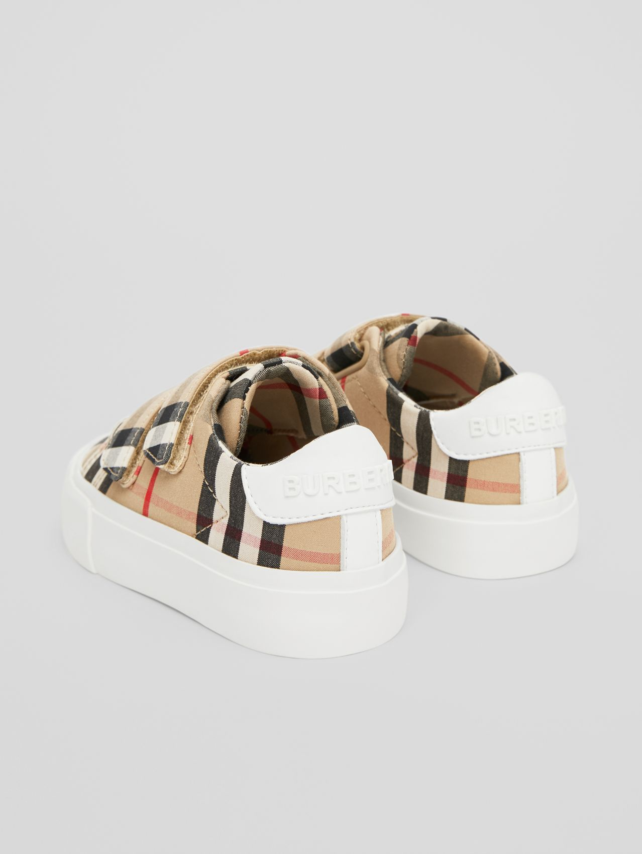 Vintage Check Cotton Sneakers in Archive Beige