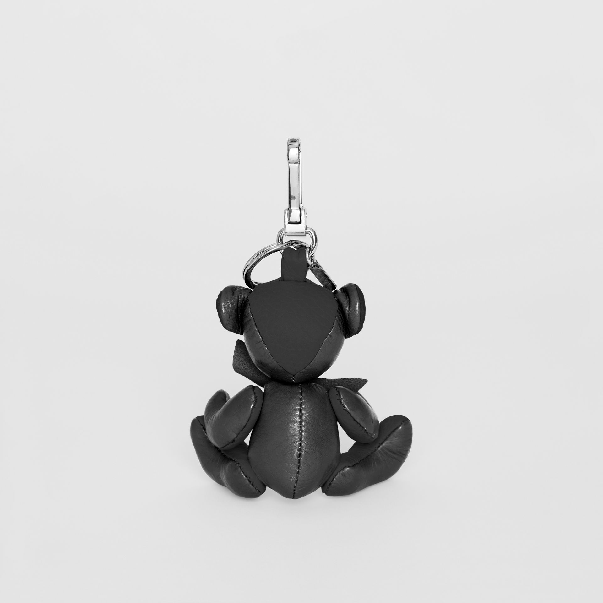 Thomas Bear Charm in Leather in Black | Burberry United Kingdom - gallery image 3