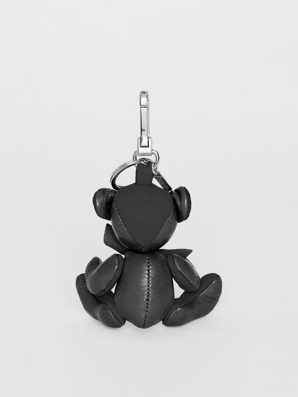 Thomas Bear Charm in Leather in Black | Burberry United Kingdom - cell image 3