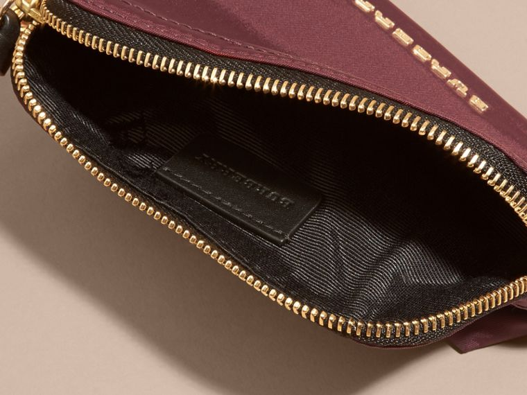 Small Zip-top Technical Nylon Pouch in Burgundy Red - Women | Burberry - cell image 4