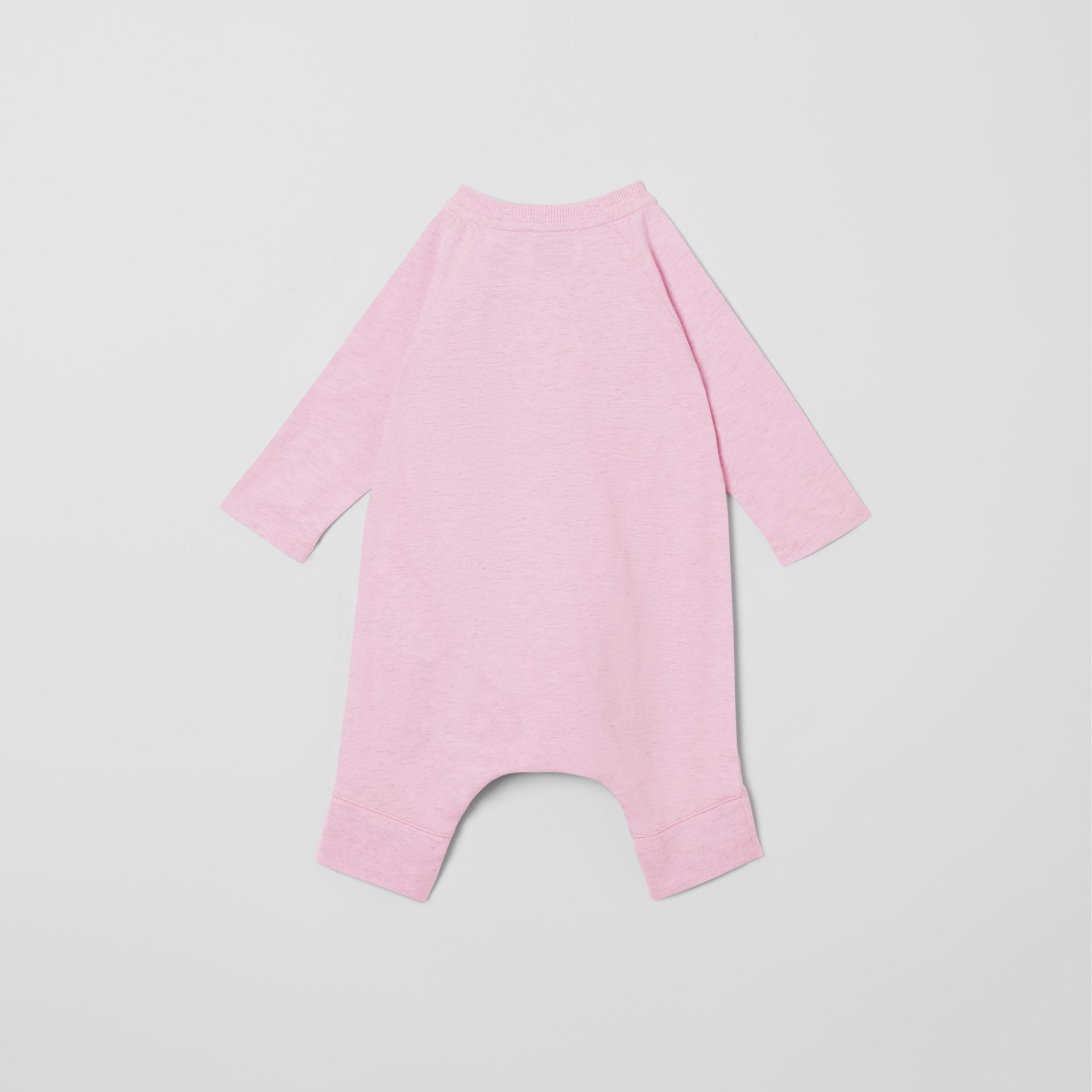 Logo Print Cotton Three-piece Baby Gift Set in Pale Pink - Children | Burberry - gallery image 5
