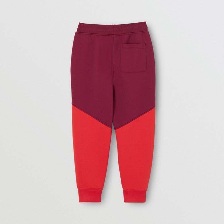 Burberry - Pantalon de survêtement en jersey stretch bicolore avec logo - 4