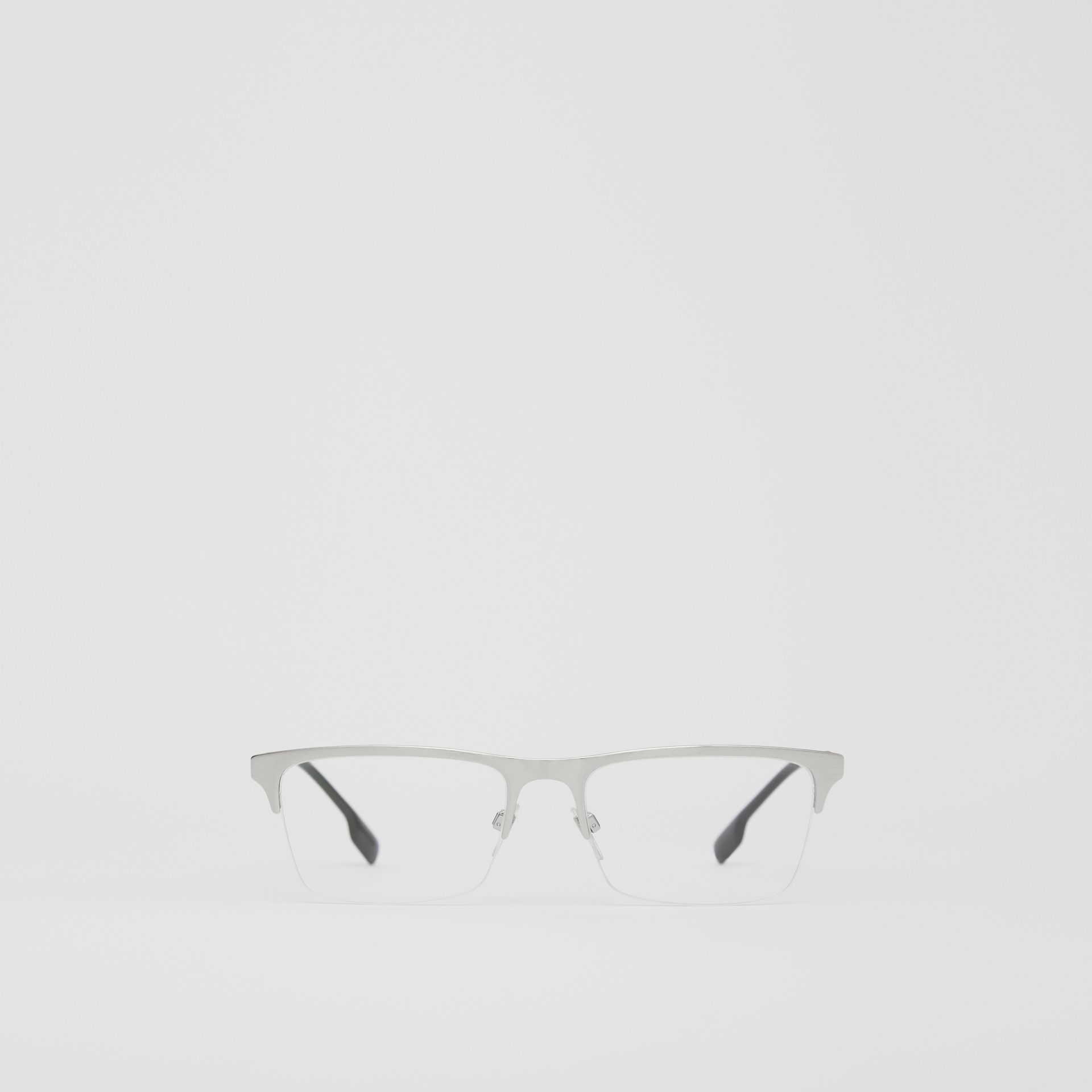 Rectangular Optical Frames in Silver - Men | Burberry - gallery image 0