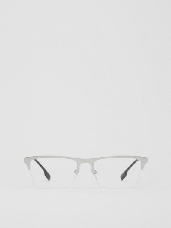 Monture rectangulaire pour lunettes de vue (Argent)