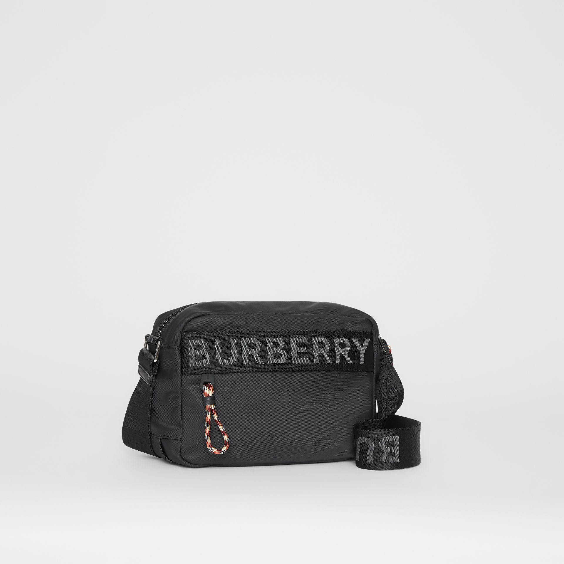 Logo Detail Crossbody Bag in Black | Burberry - gallery image 8