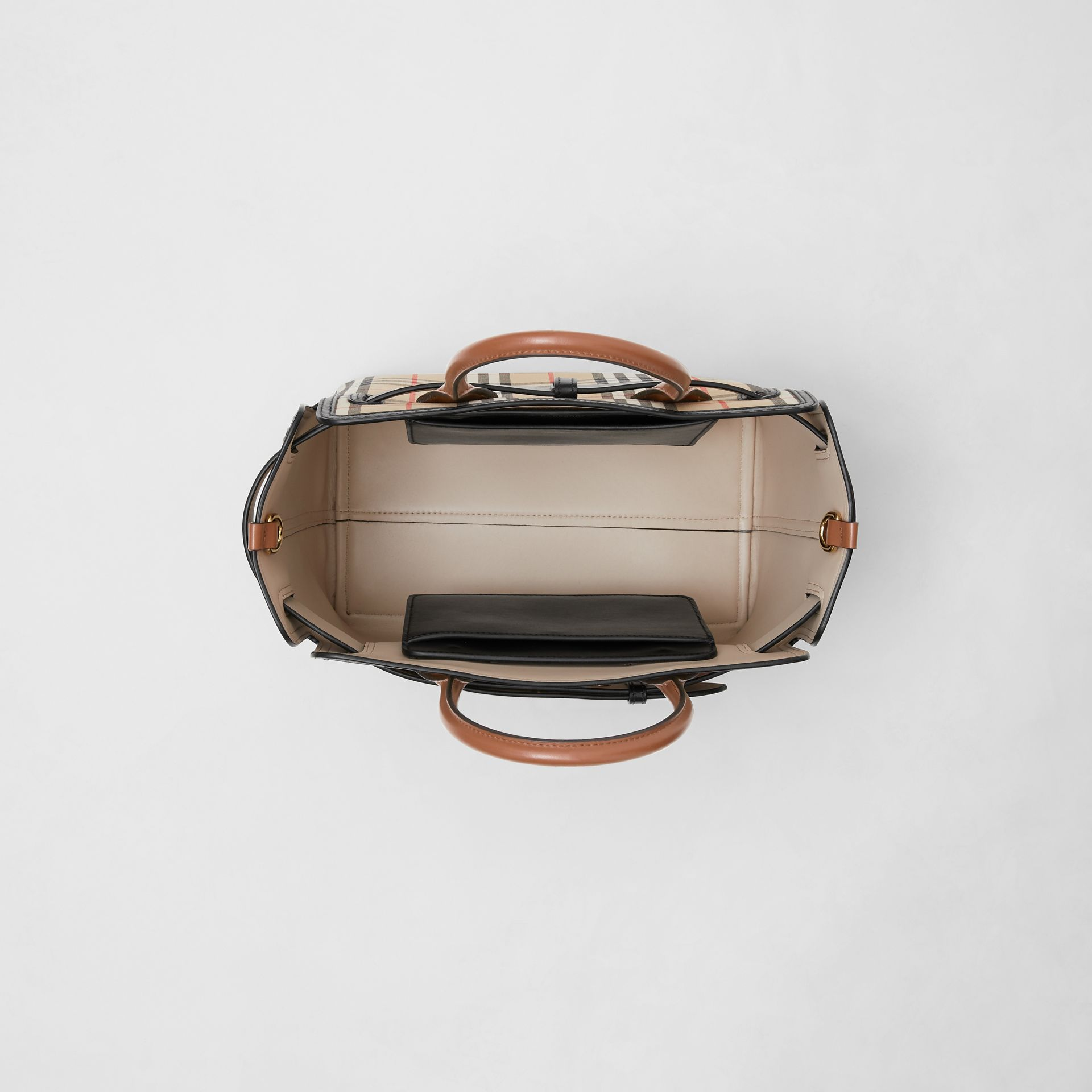 The Small Vintage Check Triple Stud Belt Bag in Archive Beige - Women | Burberry Singapore - gallery image 4