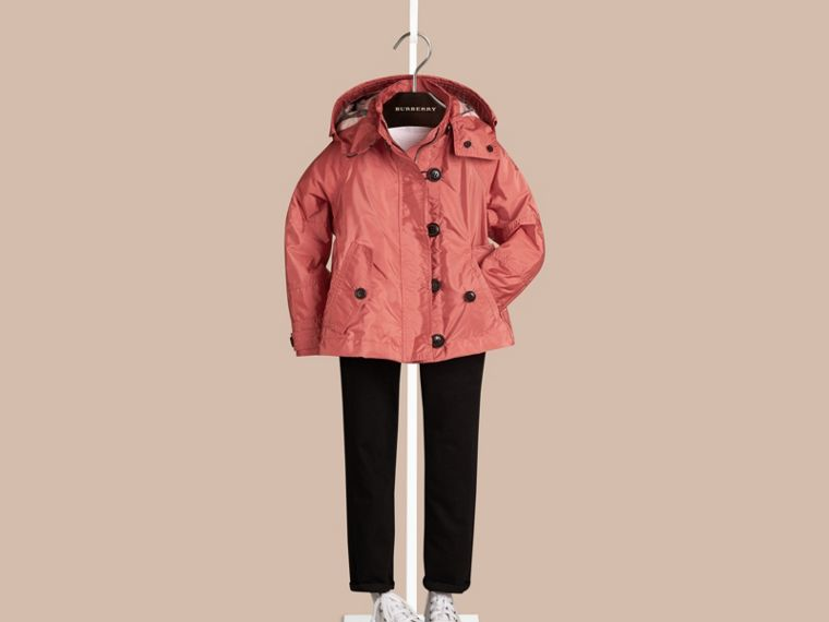 Bright copper pink Technical Jacket with Hood Bright Copper Pink - cell image 1