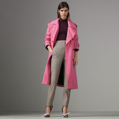 Burberry Oversized Lapel Wool Gabardine Trench Coat New Arrival Fashion H7tWF5lE