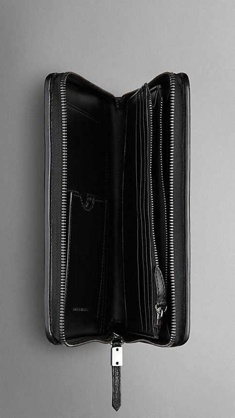 Black Alligator Leather Travel Wallet - Image 4
