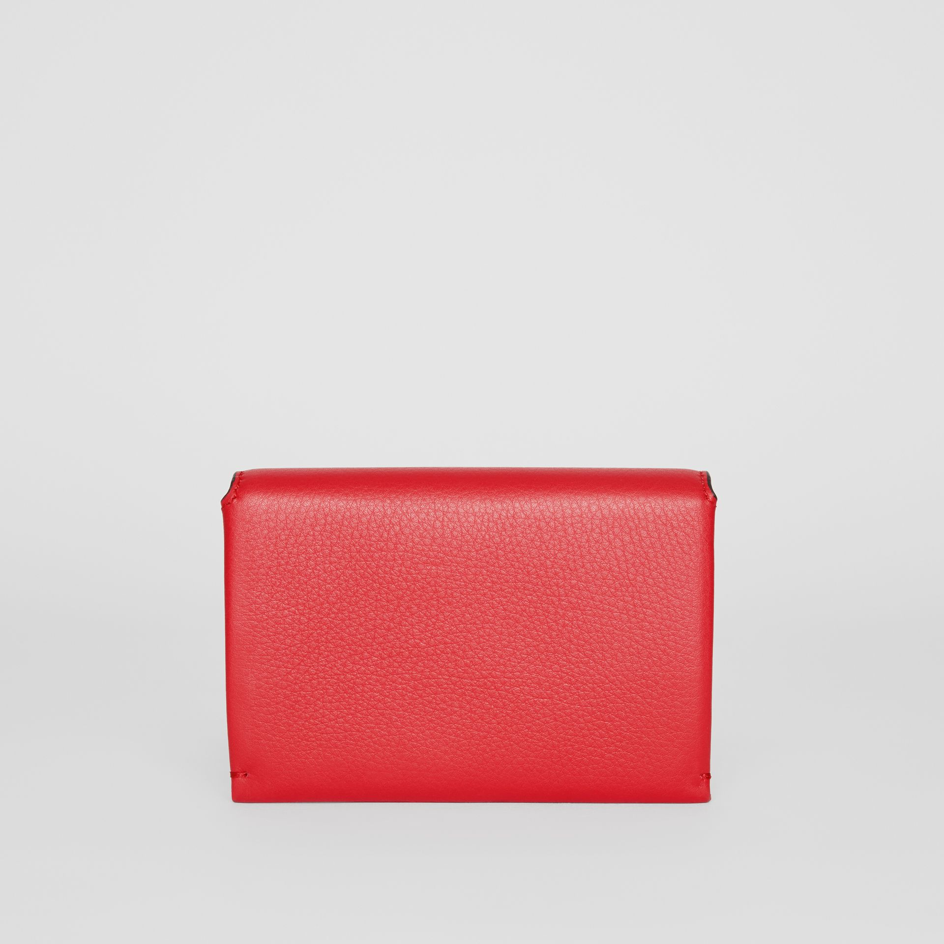 Triple Stud Leather Folding Wallet in Bright Military Red - Women | Burberry Australia - gallery image 4