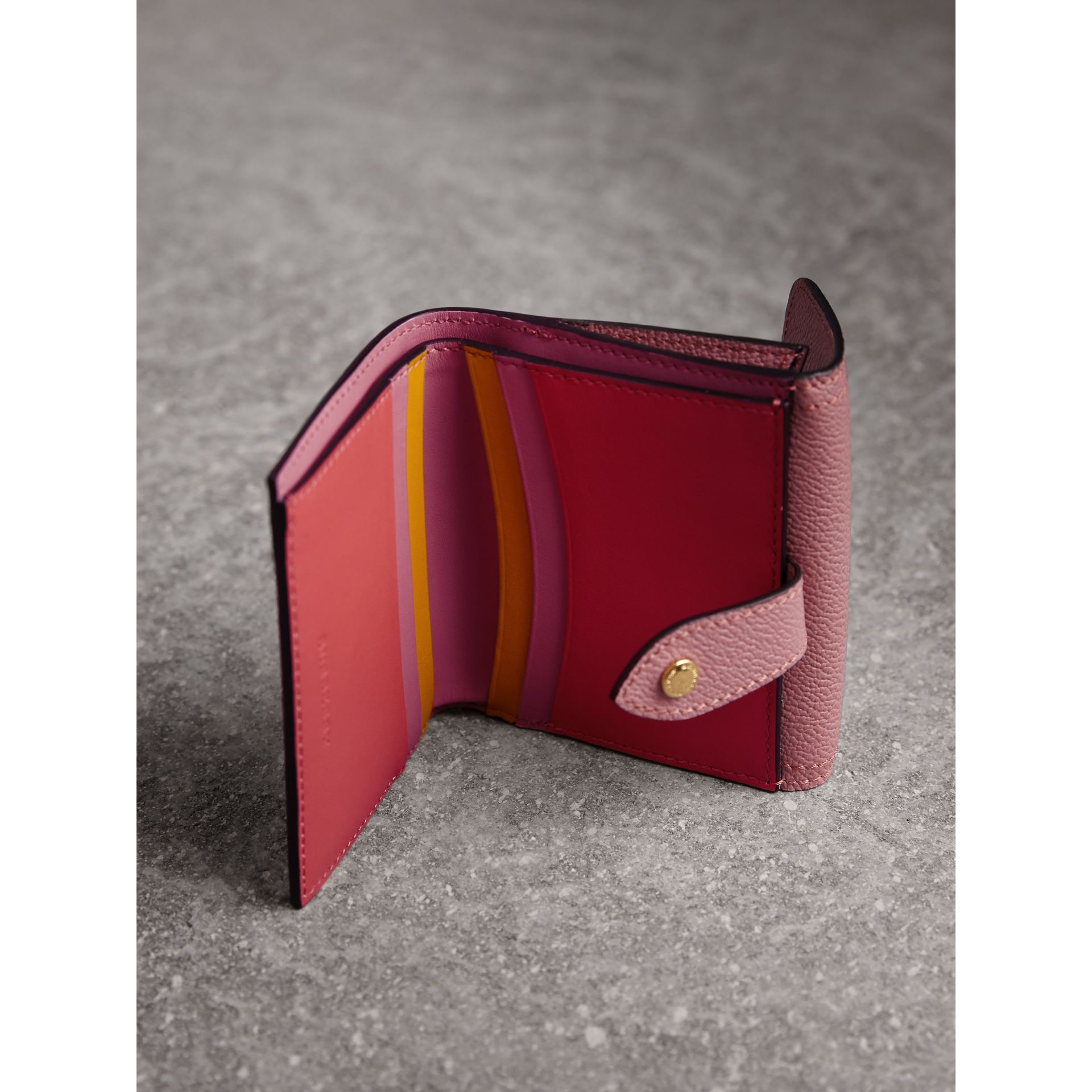 Haymarket Check and Leather Wallet in Dusty Pink/multicolour - Women | Burberry - gallery image 4