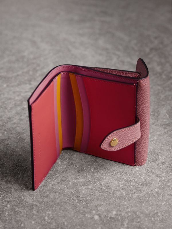 Haymarket Check and Leather Wallet in Dusty Pink/multicolour - Women | Burberry - cell image 3