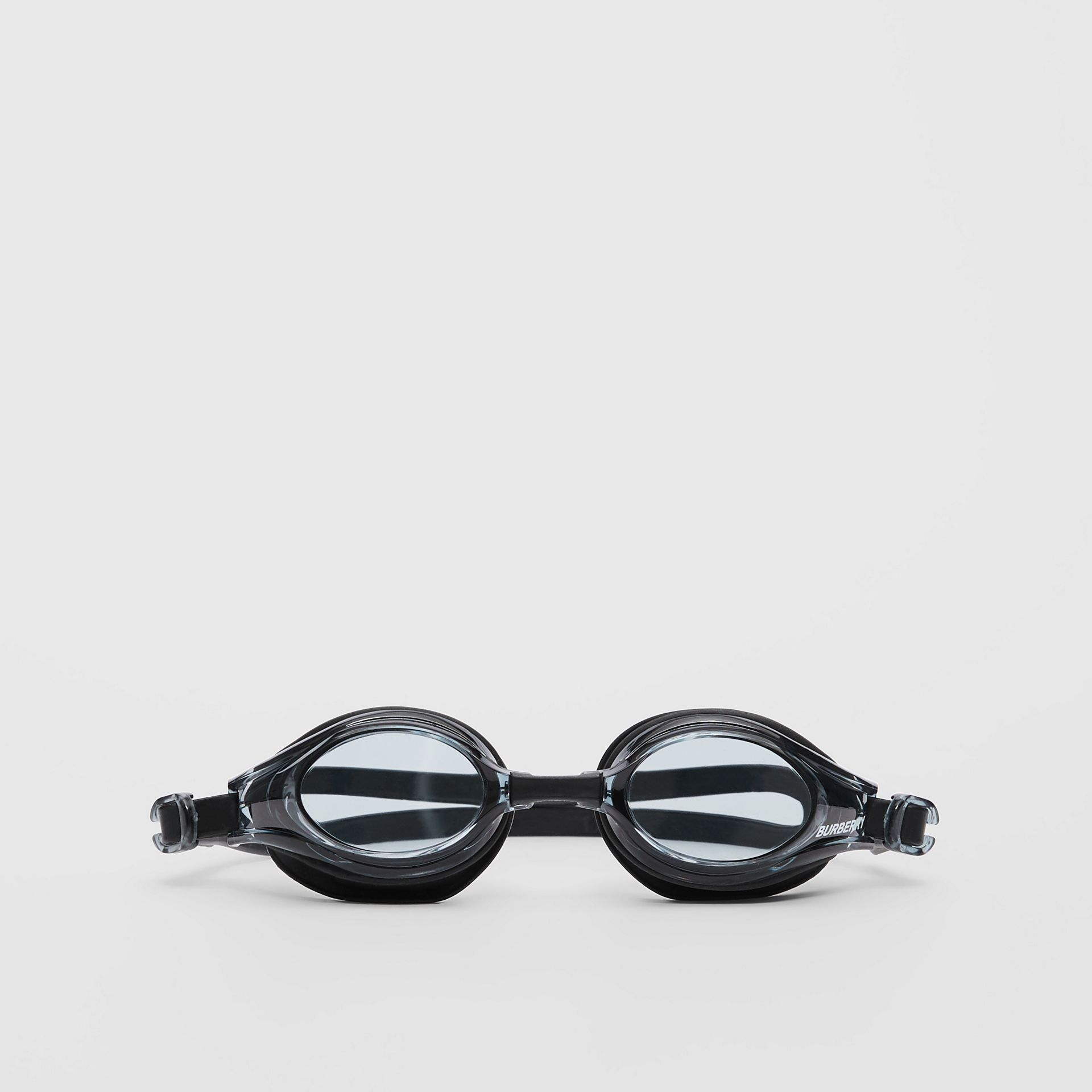 Logo Print Swimming Goggles in Black | Burberry United States - gallery image 0