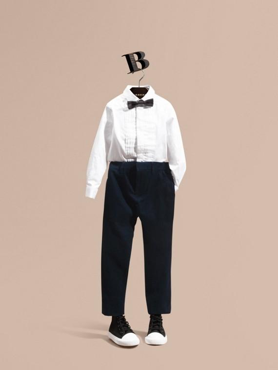 Pantalones en pana de lana