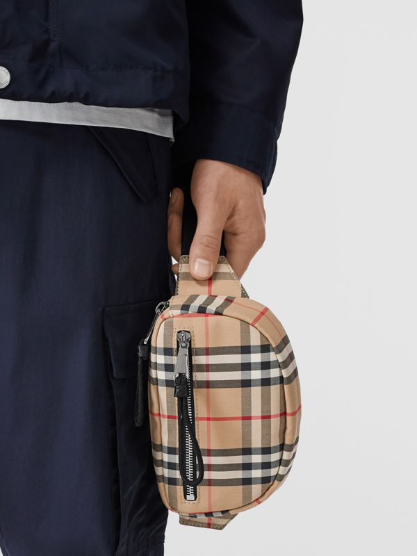 Small Vintage Check Cannon Bum Bag in Archive Beige | Burberry Canada - cell image 2
