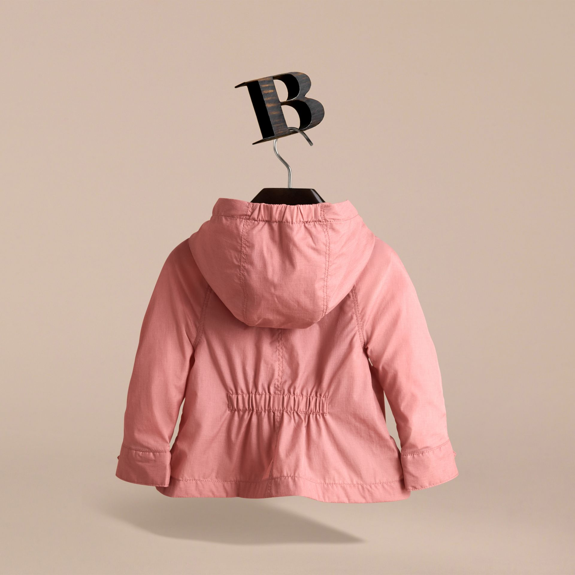 Showerproof Hooded Jacket in Rose Pink | Burberry - gallery image 4