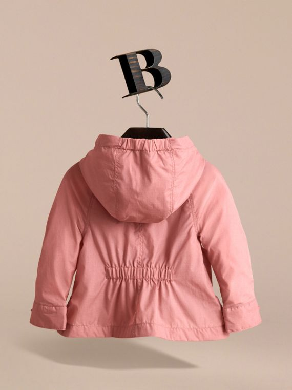 Showerproof Hooded Jacket in Rose Pink | Burberry - cell image 3