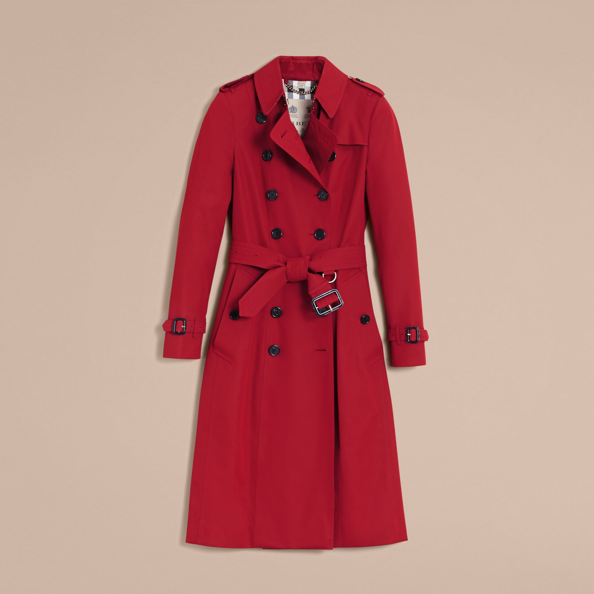 The Chelsea – Extra-long Heritage Trench Coat in Parade Red - gallery image 4