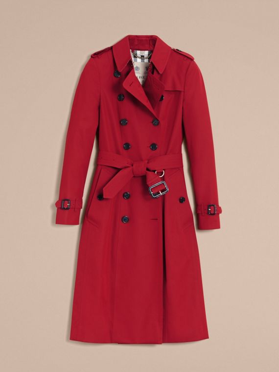 The Chelsea - Trench coat Heritage extra lungo (Rosso Parata) - Donna | Burberry - cell image 3