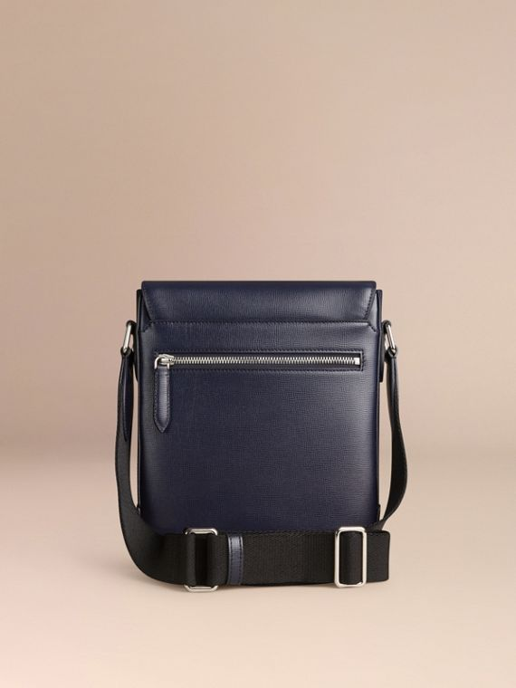 Navy scuro Borsa a tracolla in pelle London Navy Scuro - cell image 3